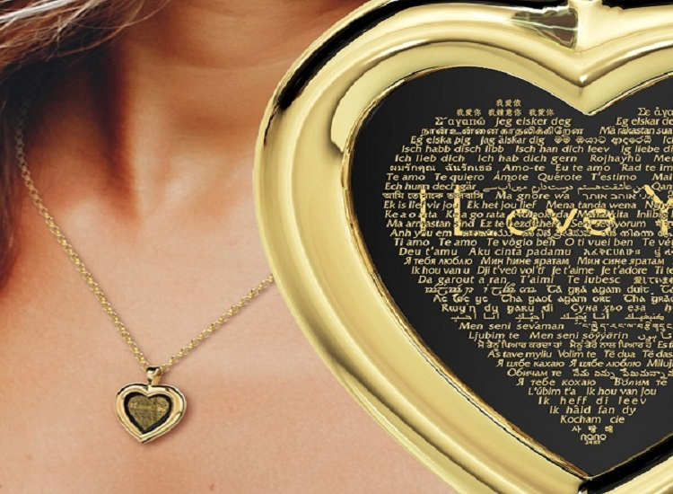 """I Love You"" Necklace in Different Languages Collection at Nano-Jewelry"